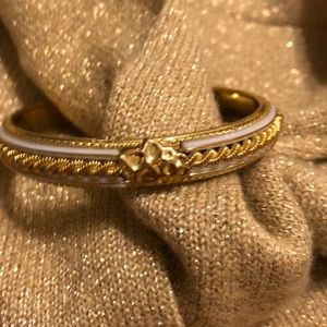 Faux Gold and White Bracelet